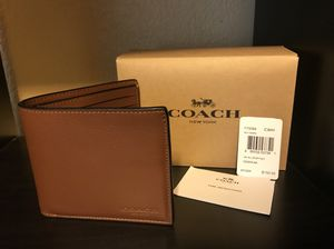 Coach men leather wallet for Sale in Los Angeles, CA