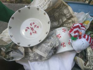 Christmas themed​ porcelain china. Over 30 pieces. Best offer for Sale in Tampa, FL