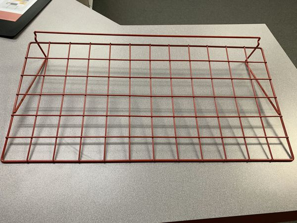 """Wire Slatwall Shelf RED 24"""" L x 12"""" D (lot of 6)"""