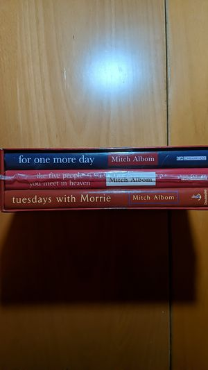 Mitch Albom Tuesdays With Morrie, For One More Day, The Five People You Meet in Heaven Box Set for Sale in Hacienda Heights, CA