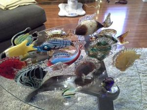 Glass fish collection for Sale in Irving, TX