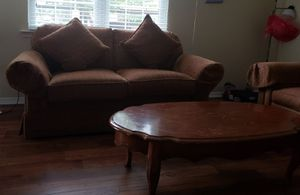 Sofa, Love seat, sofa chairs with ottoman and Coffee table for Sale in Franklin, TN