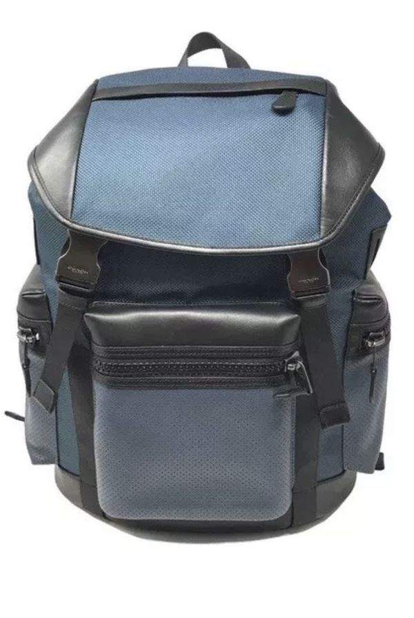 Coach Terrain Trek Pack Denim Black Backpack F24677 - MSRP $ 595.00.