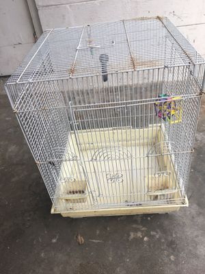Small white bird cage for Sale in Winter Haven, FL