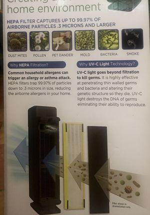 """New in the box. GermGuardian 28"""" AC5300B Elite 3 in 1 True HEPA Air Purifier with UV Sanitizer and Odor Reduction Tower Black for Sale in Phoenix, AZ"""