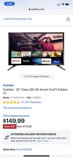 """Toshiba 32"""" Fire tv for Sale in Seattle,  WA"""