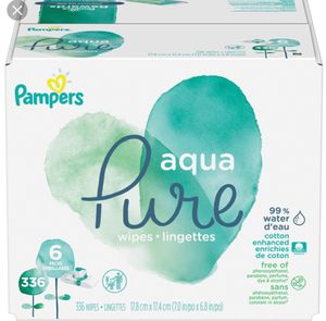 Pampers aqua pure baby wipes, 336/448 count available for Sale in Miami, FL