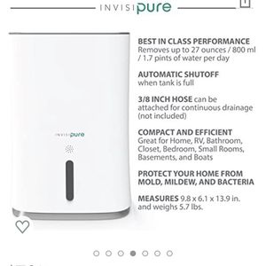 InvisiPure Hydrowave Dehumidifier for Sale in Richmond, CA