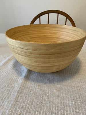 Bamboo bowl basket flower planter for Sale in Selkirk, NY
