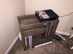 2 Small-wooden crates-one is a coffee table and the other is a book shelf for Sale in Temple, TX