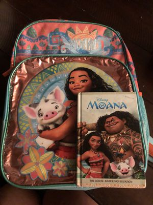 Moana Backpack and Book for Sale in Tolleson, AZ