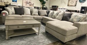 NEW IN THE BOX. STYLISH U SECTIONAL BIG SIZE WITH PILLOW ,PEWTER, SKU# AB39504XY for Sale in Westminster, CA