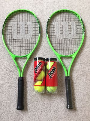 Wilson Tennis Rackets and Balls for Sale in Upper Marlboro, MD