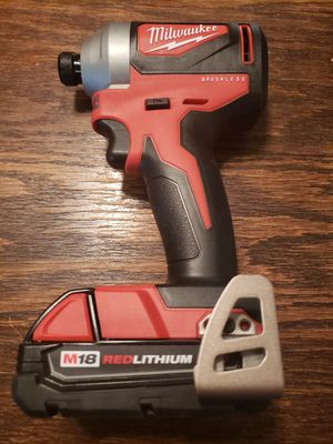 M18 18-Volt Lithium-Ion Brushless Cordless 1/4 in. Impact Driver With 2.0 Battery for Sale in Riverside, CA