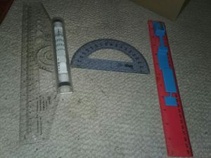 School rulers and stencils for Sale in Waterloo, IA