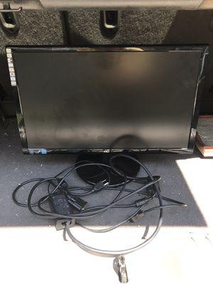 2014 black flatscreen 20 inch AOC Computer Monitor with cords for Sale in Greensboro, NC