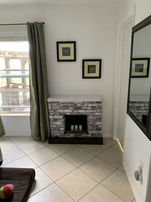 Cardboard faux fireplace - Candles and logs NOT included. for Sale in Punta Gorda, FL