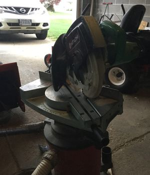 Hitachi 8 1/2 dual slide compound miter saw with 60 tooth blade installed for Sale in Garfield Heights, OH