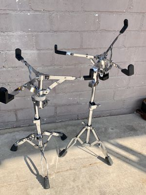 Chrome Pearl Professional Snare Stands Percussion - Very Good Condition Drum set for Sale in Las Vegas, NV