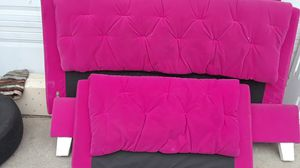 PRICE REDUCTION!! Velvet hot pink full size bed frame for Sale in Denver, CO