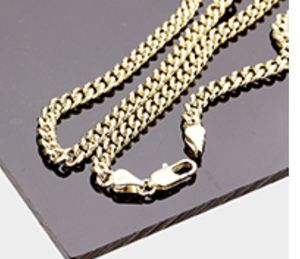 "20"" 14k gold plated round Cuban chain for Sale in Parkville, MD"