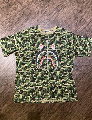 Bape Green Camo Shark Zipper T-Shirt for Sale in Clovis, CA