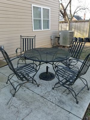 Heavy Wrought Iron Patio Set for Sale in Frederick, MD