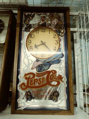Vintage Pepsi glass mirror Clock for Sale in Chicago, IL