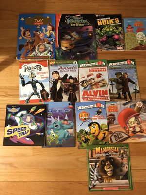 Movie character book lot $5 for all for Sale in Villa Park, IL