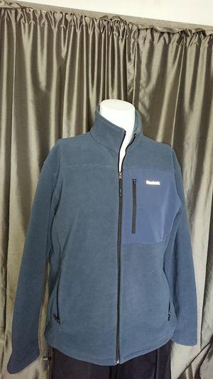 Men's L Reebok fleece jacket blue zippered for Sale in Glendale, AZ