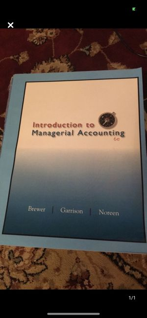 Introduction to Managerial Accounting for Sale in Queens, NY