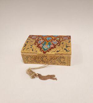 Wedding Jewellery/Ring Box-Original Hand Painted Miniature on Camel Bone Box for Sale in Detroit, MI