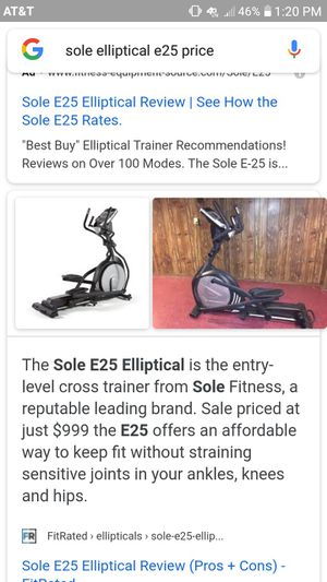 Sole elliptical in great working order! Less than Half price! Click on the Cover photo. for Sale in Beaverton, OR