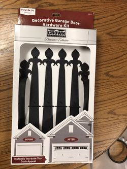 Never used Garage door faux hardware kit for Sale in Portland,  OR