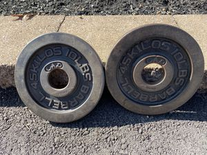 Cap Machined 10 Lb olympic plates for Sale in Collegeville, PA