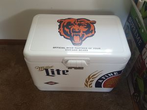 Brand new Chicago Bears Miller Lite steel Coleman cooler for Sale in Lockport, IL