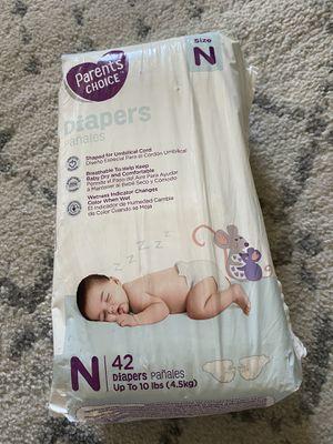 Newborn baby diapers for Sale in Silverado, CA