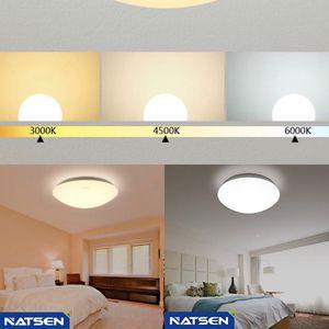 Natsen COLOR CHANGING 18W LED Flush Mount Ceiling Light Fixture for Living Room Kitchen Bedroom Balcony (3000k Warm White, 4500k Natural Light, 6000k for Sale in Ontario, CA