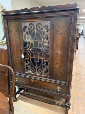 Jacobean Antique Dark Walnut China Display Cabinet for Sale in Beaver Falls, PA
