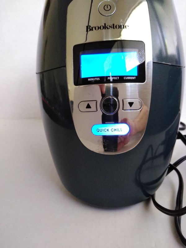 Brookstone Electric Iceless Wine Chiller Quick Chill