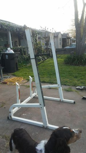 Olympic Squat rack with curling stand for Sale in Stockton, CA