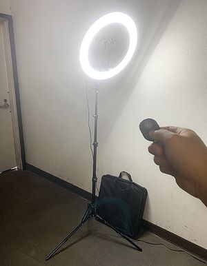 """(NEW) $90 each LED 17"""" Ring Light Photo Stand Lighting 50W 5500K Dimmable Studio Video Camera for Sale in South El Monte, CA"""