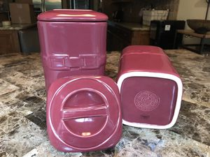Longaberger Paprika Canister Set of 6 for Sale in Fort Worth, TX