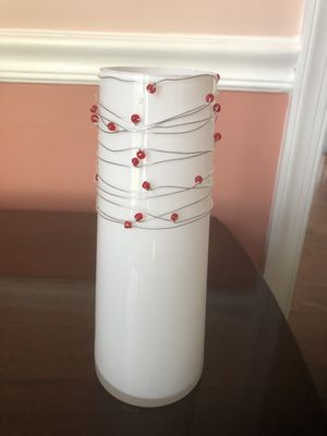 Glass White Vase for Sale in Centreville, VA