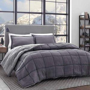 Gray reversible comforter for Sale in Vienna, VA