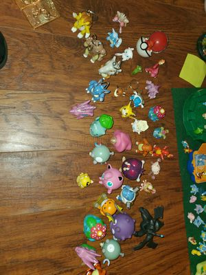 Pokemon Burger King special edition . 40. Different types of pokemon toys from keychains to spin tops to eraser holders with 3 gold cards for Sale in Tampa, FL
