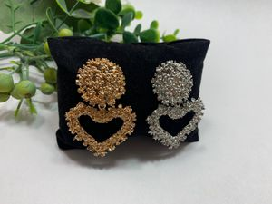 New Fashion Simple Style Embossed Metal Heart Stud Earrings For Women, Set of 2 (Gold and Silver Color) for Sale in Tustin, CA