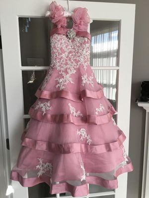 Baby j couture girls flower dress size 5 for Sale in Naperville, IL