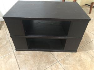 Black TV Stand w/Storage for Sale in Coral Springs, FL