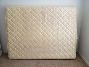 Mattress, Metal frame and Dumbbells for Sale in Bettendorf, IA
